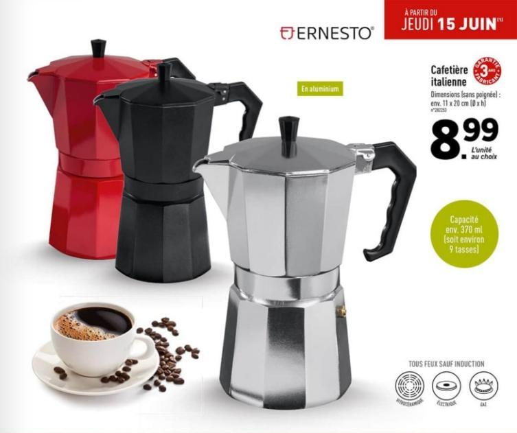 cafetiere italienne dimensions