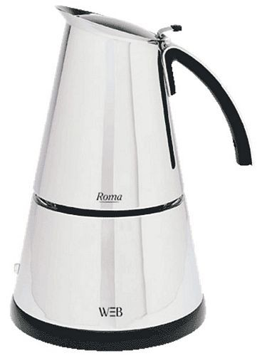 cafetiere italienne electrique white and brown