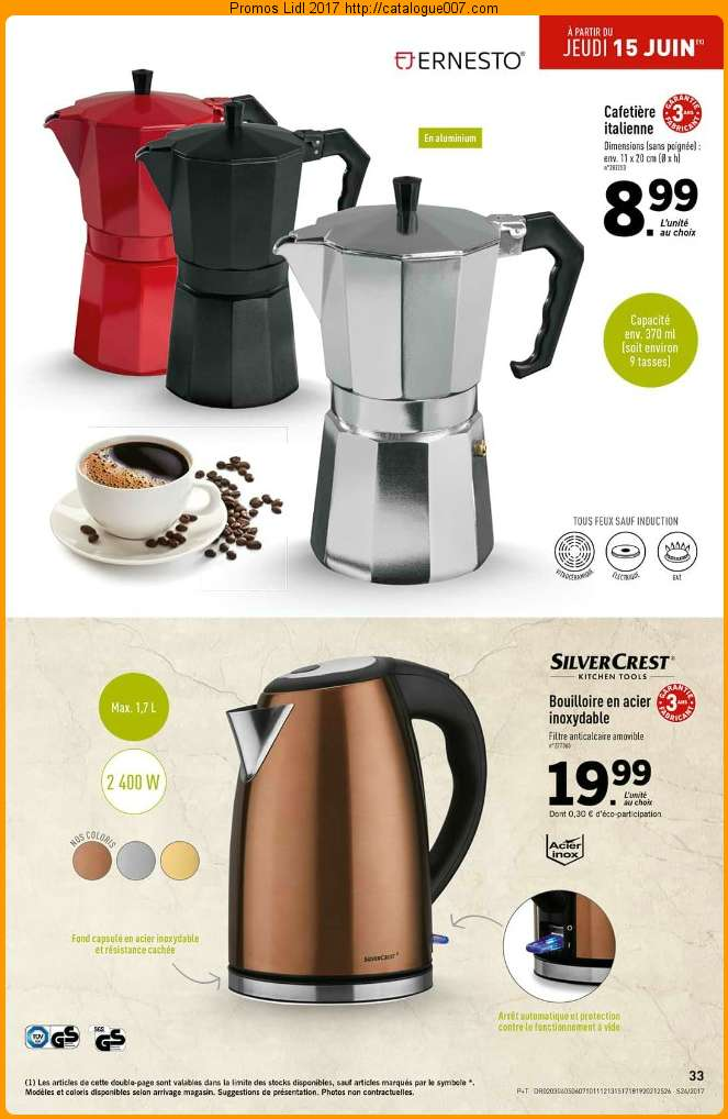 cafetiere italienne lidl