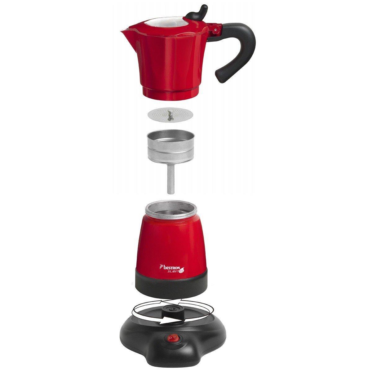 cafetiere italienne rouge 1 tasse