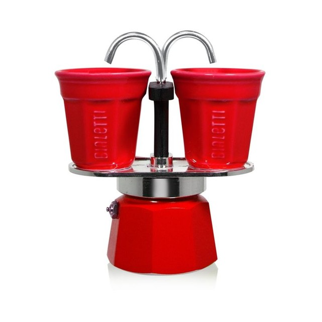 cafetiere italienne rouge 2 tasses