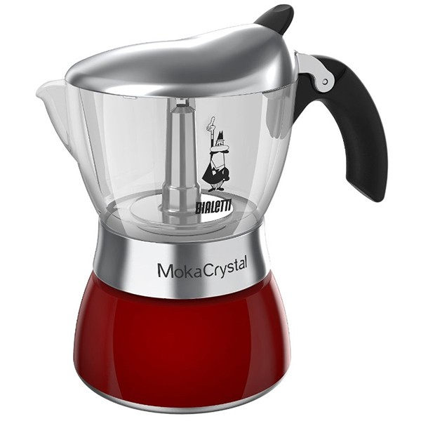 cafetiere italienne rouge 6 tasses