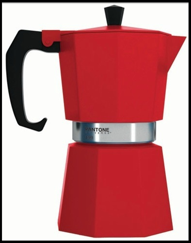 cafetiere italienne rouge induction