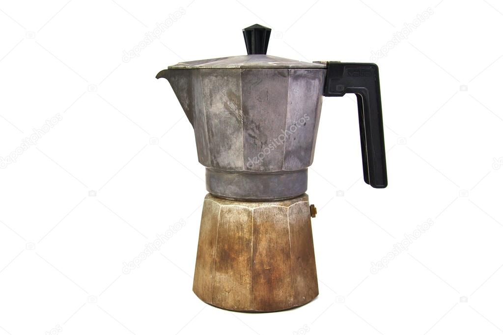 cafetiere italienne rouille