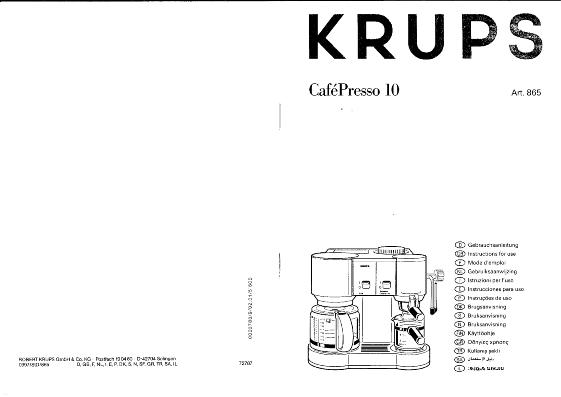 cafetiere krups 865