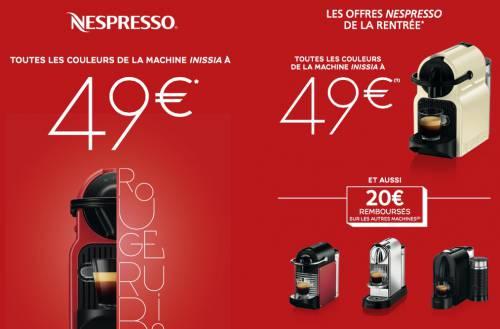 cafetiere nespresso 49 euros
