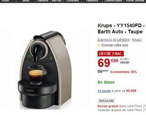 cafetiere nespresso a 39 euros