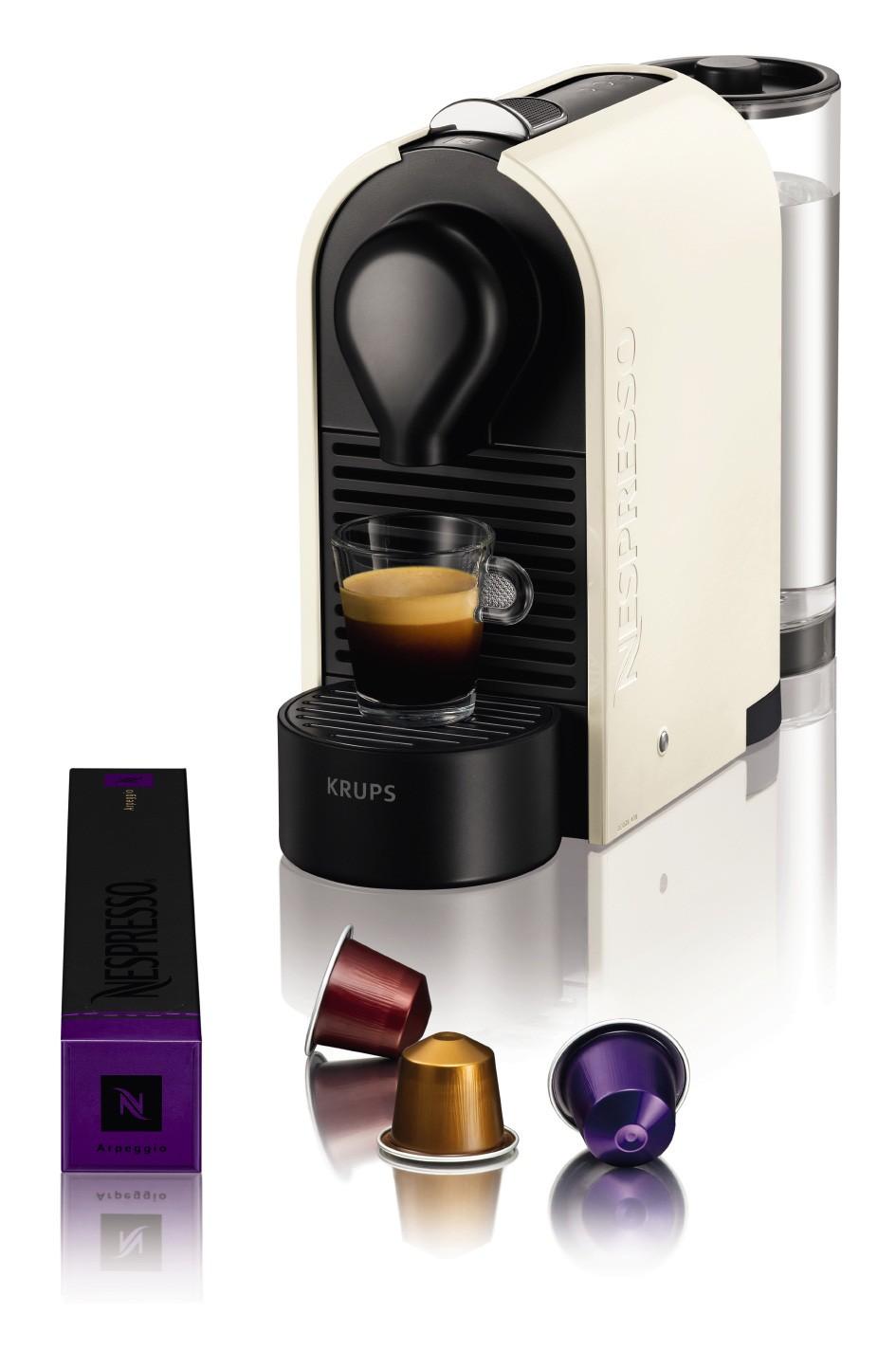 cafetiere nespresso a dosettes krups u pure white yy1301fd