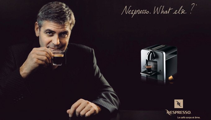 cafetiere nespresso georges clooney