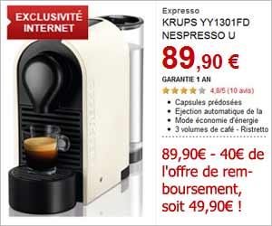 cafetiere nespresso krups u yy1301