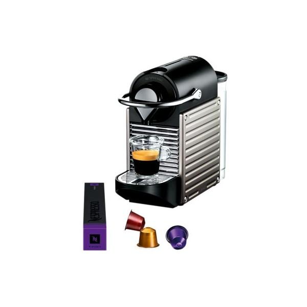 cafetiere nespresso pixie titane