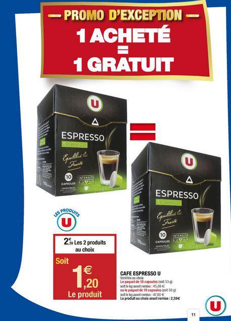 cafetiere nespresso super u