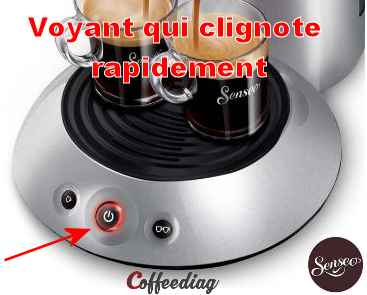 cafetiere senseo bouton clignote