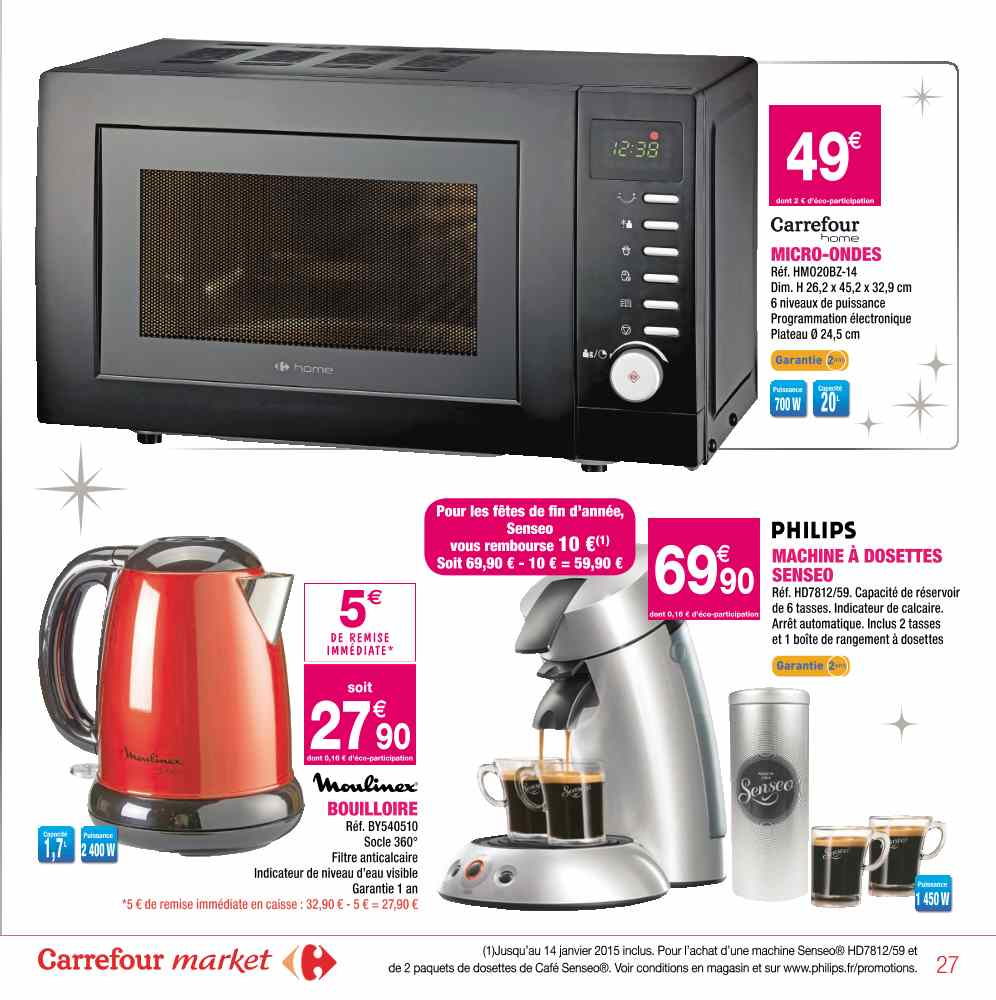 cafetiere senseo magasin carrefour