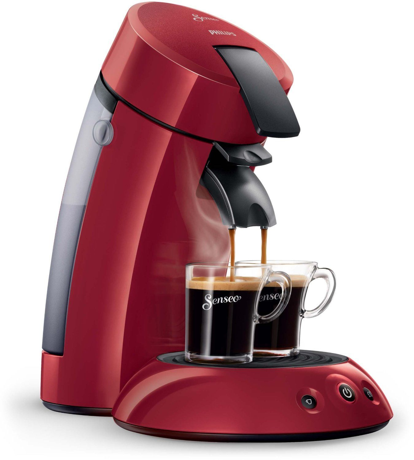 cafetiere senseo philips rouge