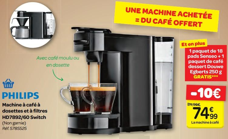 cafetiere senseo switch carrefour