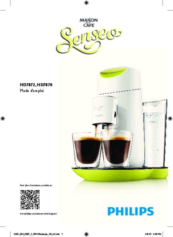 cafetiere senseo twist mode d'emploi