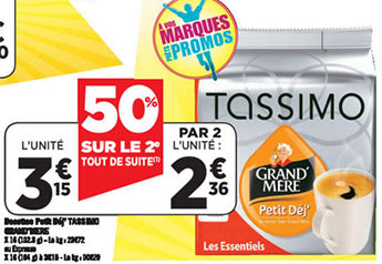 cafetiere tassimo a geant casino