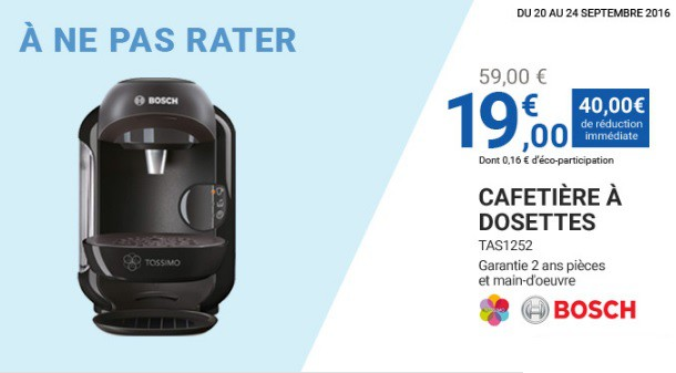 cafetiere tassimo leclerc