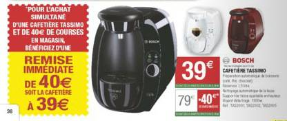 cafetiere tassimo promotion