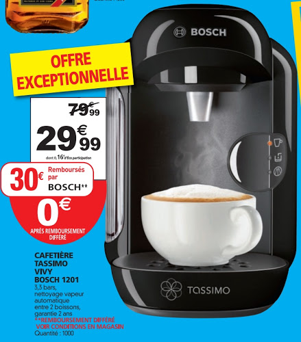 cafetiere tassimo remboursement