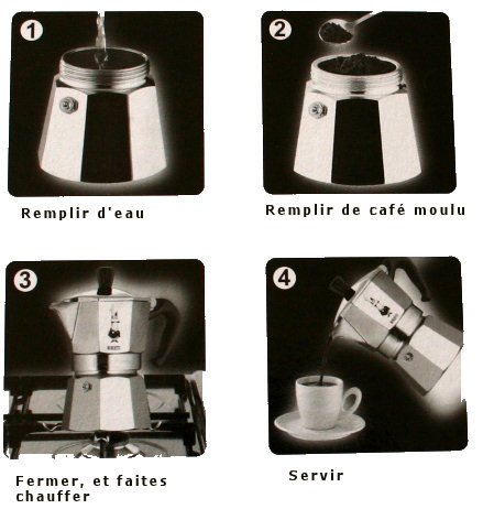 cafetiere italienne mode d'emploi