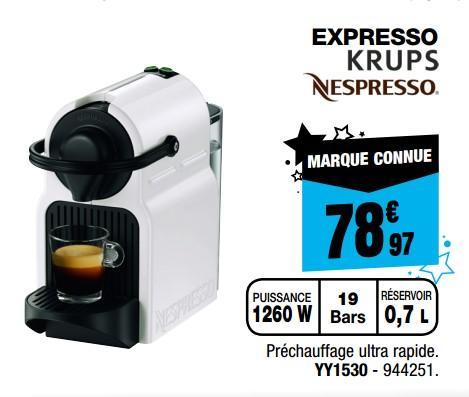 cafetiere nespresso electro depot