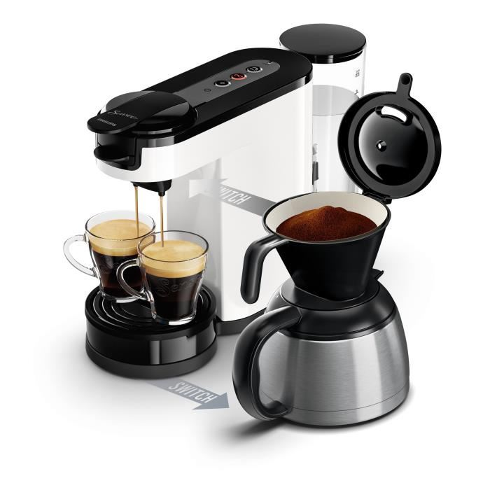 cafetiere senseo double fonction