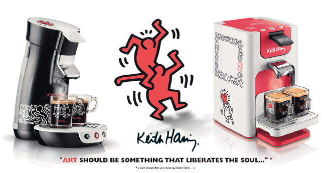 cafetiere senseo keith haring