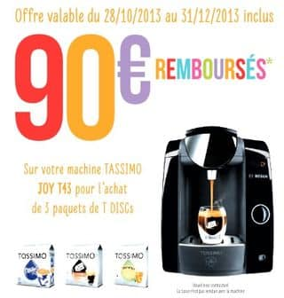 cafetiere tassimo 100 rembourse
