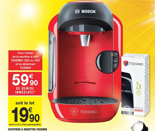 cafetiere tassimo a carrefour